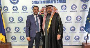 صالح ظاهر يستقبل الشيخ أحمد آل سودين في مدينة اوديسا