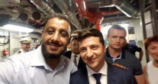 Дагер Салех Мухамед и президент Украины Владимир Зеленский на военном корабле